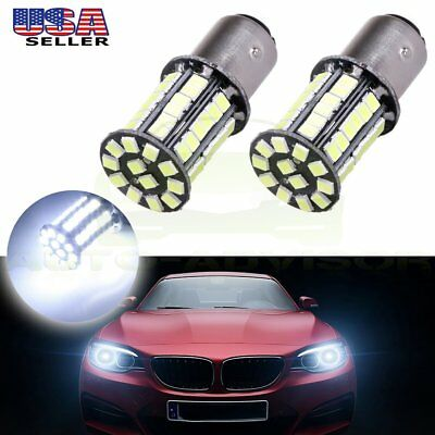2x 1157 BAY15D Bright Pure Light BulbsTurn Signal BackuP Lamp Cree LED SMD 6000K