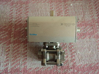"""Actuated Pneumatic Ball Valve 1/2"""" BSP Stainless Steel 316"""