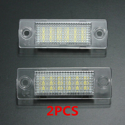 2x 18 LED Luz Placa Número Matrícula For VW Caddy T5 Transporter Golf Passat 12V