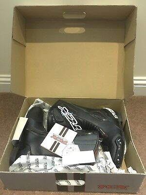 TCX Black Motorcycle Boots S-SPORTOUR  Size UK7 EU41 *BRAND NEW IN BOX*