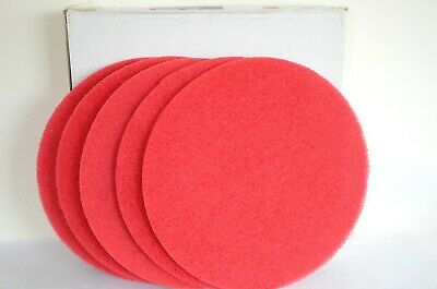 "24"" Red floor cleaning pads (Case of 5)"