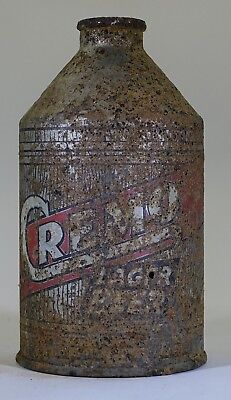 Cremo Lager Beer Cone Top  Crowntainer Woodgrain Variation RARE!