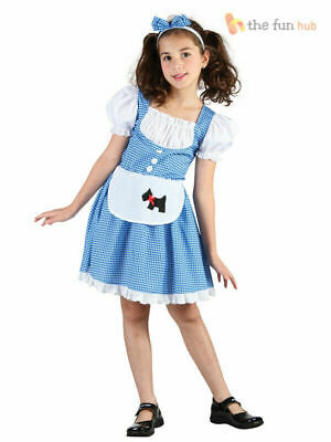 Girls Dorothy Costume Childs Fairytale Book Week Fancy Dress Outfit Kids