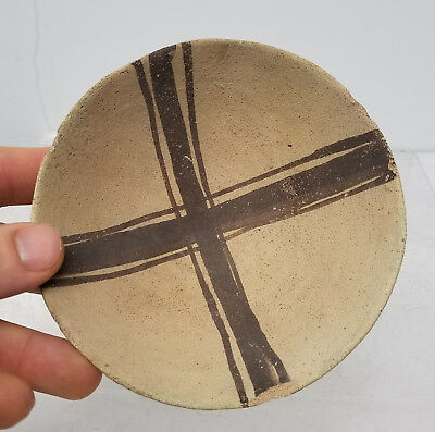 Antique Pre Columbian Incan Pottery Bowl Painted Native American