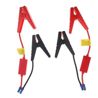 2pcs 12V Battery Alligator Clamps Cable Wire Lead 10AWG EC5 Connector