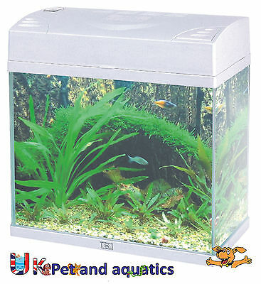 Fish R Fun, Rectangular Slimline Aquarium Tank White 8L