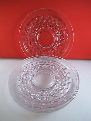Vintage Lot of Four Fostoria American Glass Saucers Saucer