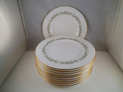 Vintage Minton Bone China April Set of 12 Salad Plates