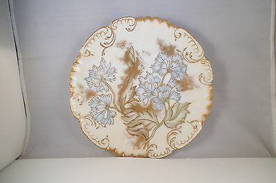 Vintage Made in France Decorative Plate Blue Flowers