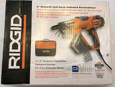 New Ridgid 3 in. Drywall and Deck Collated Screwdriver R6791