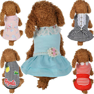 EG_ Pet Dog Dress Cat Cute Princess Winter Clothes Puppy Vest Coat Apparels Surp