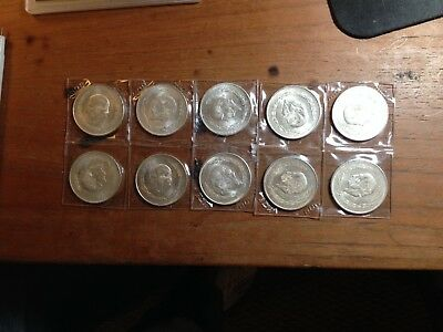 Lot Of Mexico 5 Peso Silver Coins! 1951-1953