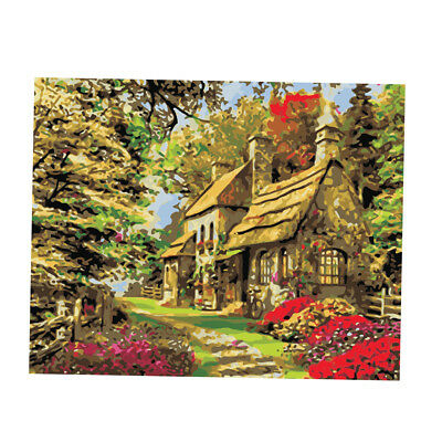 Canvas Oil Painting Paint By Numbers Wall Art Poster DIY Gift Garden House