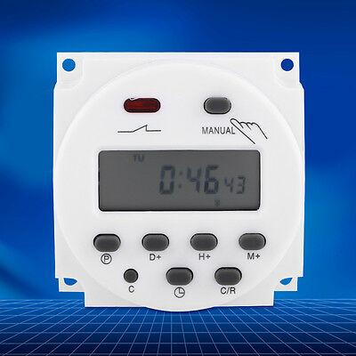 CN101A 24V-220V LCD Digital Weekly Programmable Power Timer Time Relay Switch on
