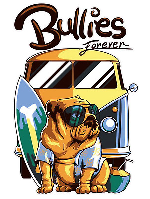 BULLIES FOREVER VW BUS T2 T3 T4 T-Shirt old scholl  S - 5XL
