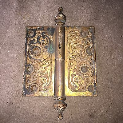 "Antique Russell And Erwin  Solid Brass Hinge 4 1/2""x 4 1/2"" #2"