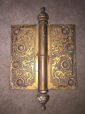 "Antique Russell And Erwin  Solid Brass Hinge 4 1/2""x 4 1/2"""