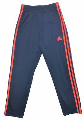 Adidas Boys Youth Athletic Training Pants Navy / Electric Red XL (18/20)