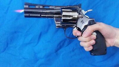 Revolver Lighter toy gun movie cosplay prop python flame costume spin chamber
