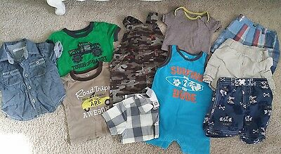 10 PIECE SUMMER baby boy 12 months lot GREAT CONDITION! GREAT DEAL!