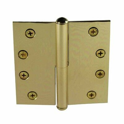 4in Lift Off Right Brass Door Hinge Vintage Button Tip | Renovator's Supply