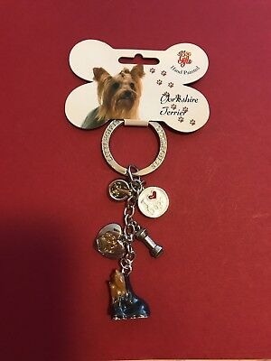 Little gifts handpainted Yorkshire terrier keychain