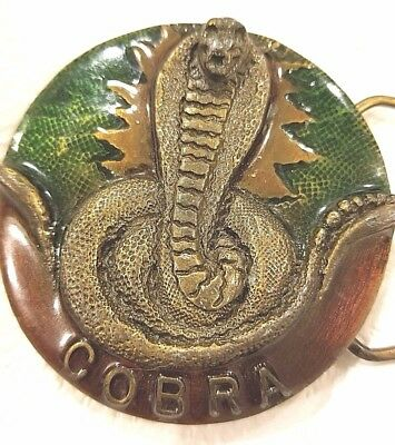 Belt Buckle by Indiana Metal  Craft Cobra(SIGNED) VINTAGE