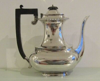Antique J.B. CHATTERLEY &  c1896 Victorian Silver Large Tea Coffee Pot Fine