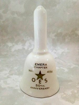 Vintage Emera Chapter 456 OES 50th Anniversary Porcelain Bell