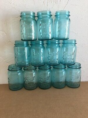 12 Blue Ball Perfect Mason Pint Jars