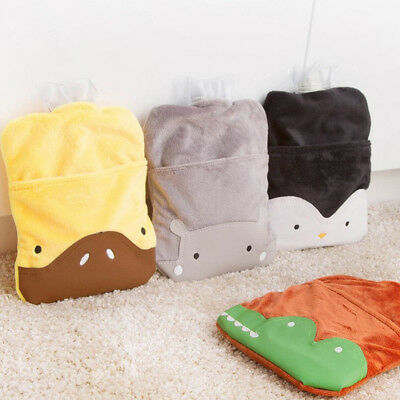 EG_ Hot Water Bottle Bag Warm Relaxing Heat Cold Home Necessary Rubber Set Preci