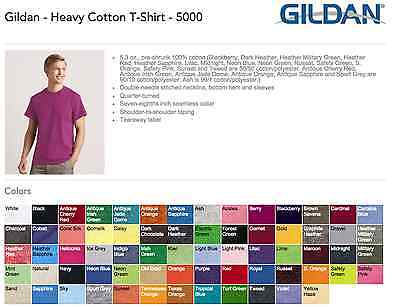 100 Gildan Heavy Cotton T-Shirt Wholesale Bulk Lot S-XL Colors unitedstatestees