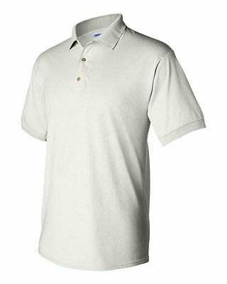 25 Blank Gildan DryBlend White Jersey Polo 8800 Bulk Lot Wholesale S-XL G880