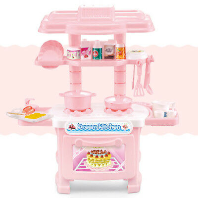 Eg_ Ba_ 33Pcs Portable Electronic Children Kids Kitchen Cooking Girl Toy Cooker