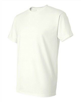50 Wholesale Plain Gildan DryBlend White Adult T-Shirts Blank Bulk Lot S M L XL