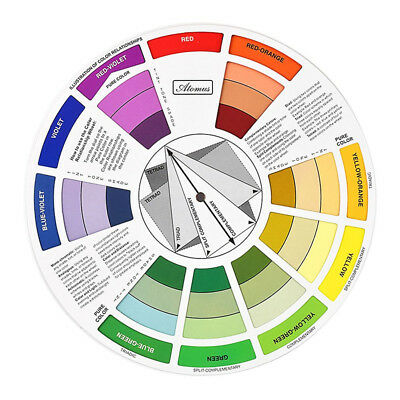 EG_ Color Wheel Pro Tattoo Pigment Painting Mixing Guide for Color Selection Rak