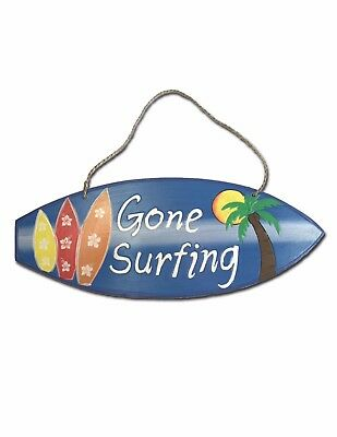 Painted Surfboard Sign   Gone Surfing Welcome Sign