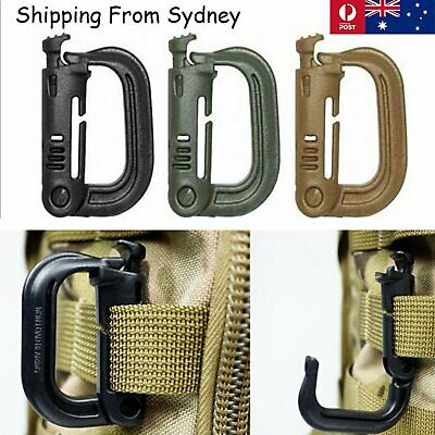 5pcs Plastic Carabiner D Ring Key Chain Keychain Clip Hook Outdoor Buckle Clip