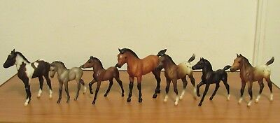 LOT of 7 Vintage Breyer Stablemates Miniature Horses, Mixed Lot 1:32 Scale, VGUC