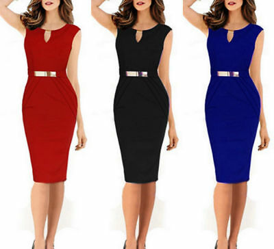 Women Bandage Bodycon Formal Work Evening Party Cocktail Pencil Mini Dress Lot