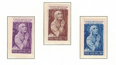 Vatican 335 - 337 - St Catherine Of Sienna. Set Of 3.  MNH. OG.   #02 VAT335s