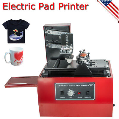 Electric Pad Printer Printing Machine For T-Shirt INKPRINT PVC MUG Ballpen 110V