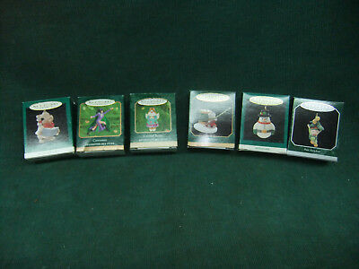 Lot of 6 Different Hallmark Keepsake Miniature Ornaments In Original Boxes
