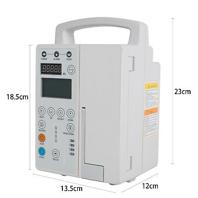 Medical Infusion Pump IV Fluid Infusion With Audible Alarm Human & Veterinary