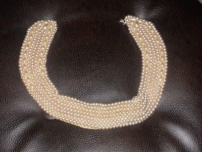 Vintage 1950s faux pearl collar