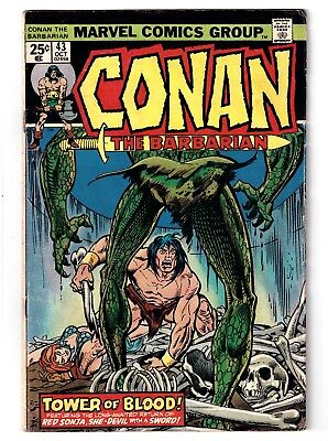 Conan the Barbarian #43 (Oct 1974, Marvel) Red Sonja appearance   GD+ (2.5)