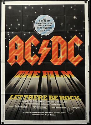 Ac/dc Let There Be Rock 1980 Orig 39X55 Italian Movie Poster Phil Rudd
