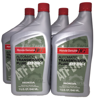 QUARTS GENUINE HONDA Automatic Transmission Oil Fluid ATF DW And - Acura rl transmission fluid