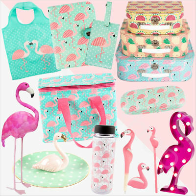 Tropical Summer Flamingo Themed Gifts Home Decor Stationery Storage Bags & Box