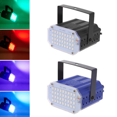 Adjustable Sound Actived Auto Flash DJ Strobe Lights For Party Disco KTV 36LED